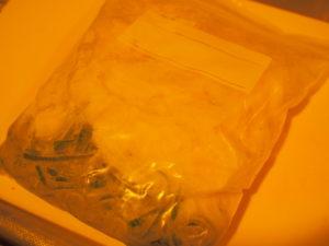 野菜の冷凍保存・先取りパーツ化(ねぎ)
